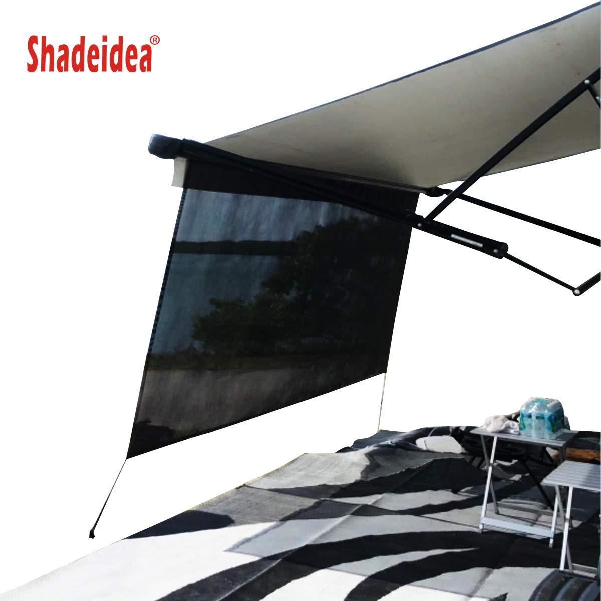 Shadeidea RV Sun Shade Screen for Awning 8 X 12 5 Black Mesh Sunshade Motorhome Camping Trailer UV Sunblocker Canopy Sunscreen Offer 3 Years Warranty
