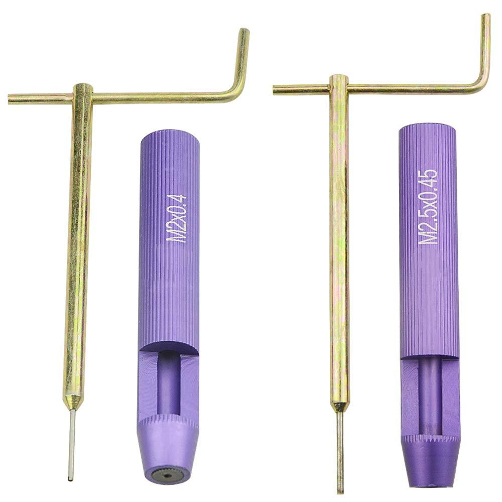 XLX 2PCS Thread Repair/Set M2 M2.5 Wire Thread Inserts Steel Sleeve Tool Thread Sheath Wrench Tooth Socket Installation Coil Screw Repair/Sleeve Installation Wrench STM2x0.4 STM2.5x0.45