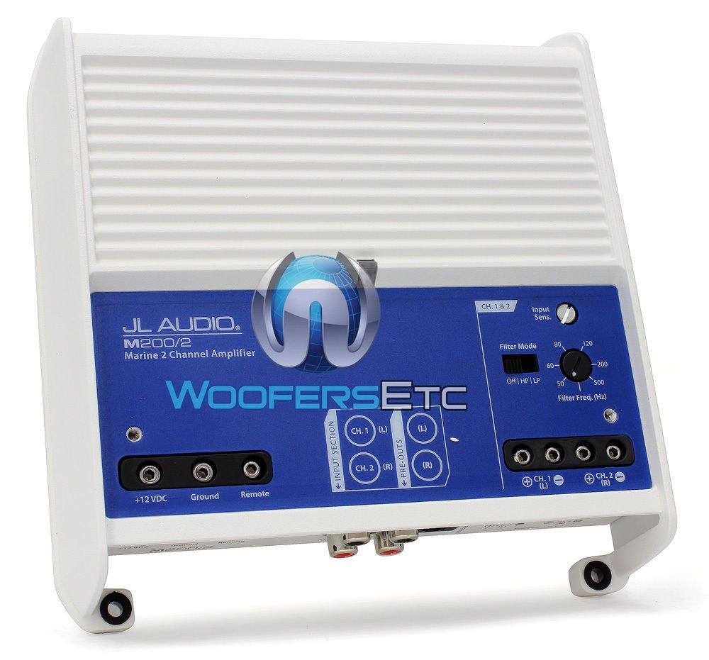 JL Audio M200/2 Marine M Series 2-Channel Class D Full-Range Amplifier