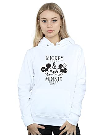 Disney Femme Mickey and Minnie Mouse Mousecrush Mondays Sweat À Capuche  Blanc Small 1b53f7c2c789