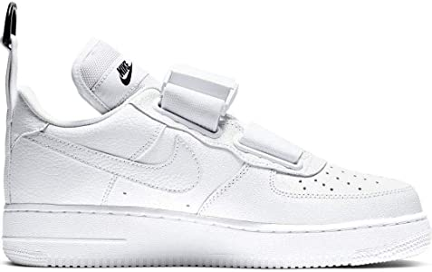 Nike Scarpe Sneakers da Uomo Air Force 1 Utility in Pelle Bianca AO1531 101