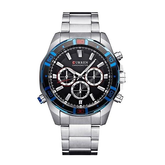 Nuevo CURREN Mejor marca Design Negocio Army Sport Relojes de Cuarzo Hombres Casual Militar Relojes de pulsera de Lujo: Amazon.es: Relojes