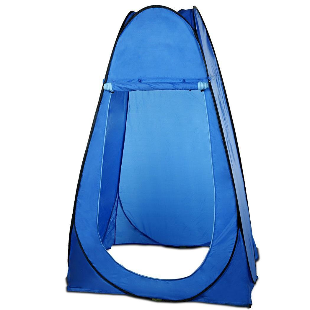 Portable Pop Up Privacy Shelter Outdoor Movable Waterproof Tent for Fishing Bathing Toilet Beach Park (Blue) by Cosway