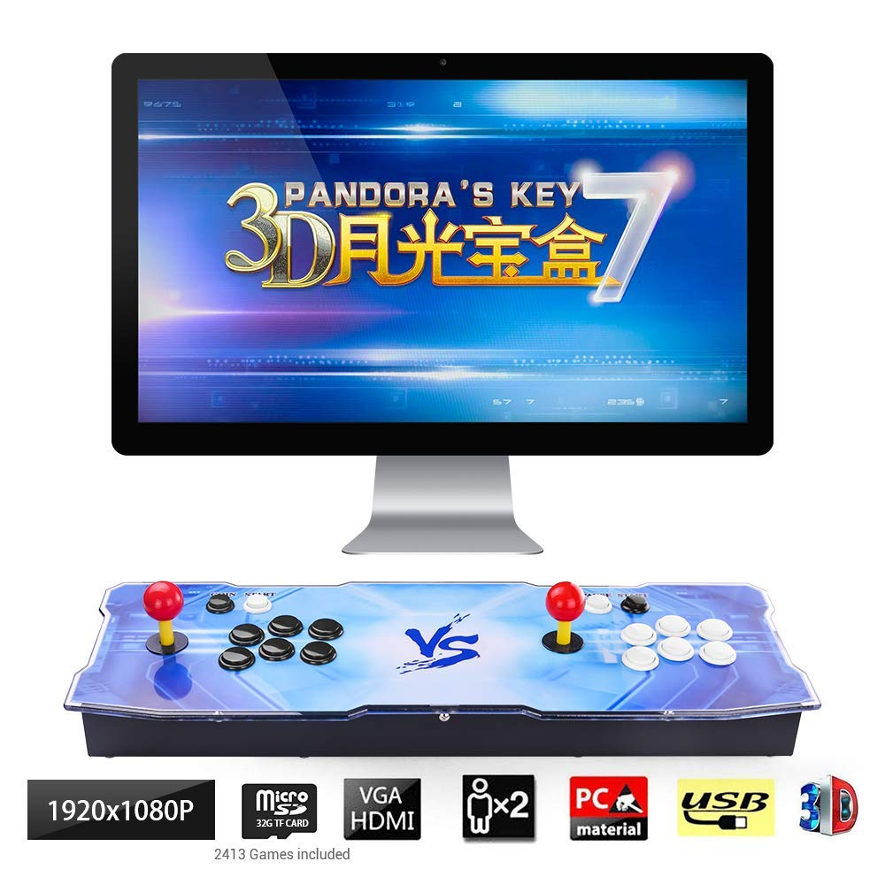 TAPDRA 3D Pandora Key 7 Retro Arcade Game Console | 2413 Retro HD Games(160 in One 3D Games Included) | Full HD 1920x1080 | Support Multiplayers | Add More Games | HDMI/VGA/USB/3.5mm Audio Output by TAPDRA (Image #1)