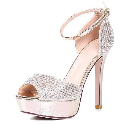 6cba7ac106d GTVERNH Women s shoes fashion Diamond Fish Mouths Shoes Buckles Sandals  Sandals Bride S Wedding Shoes