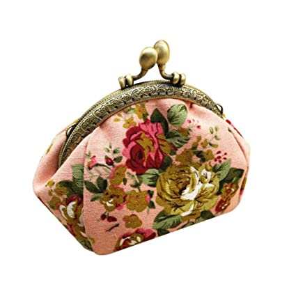 KTENME - Monedero para niñas, diseño Vintage, 9 x 9 x 12 cm ...