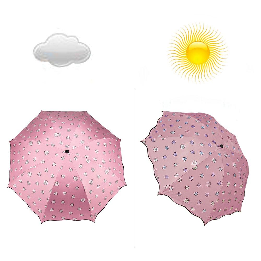 Aerusi cambia de color sol y bloqueo de lluvia sombrilla paraguas ...