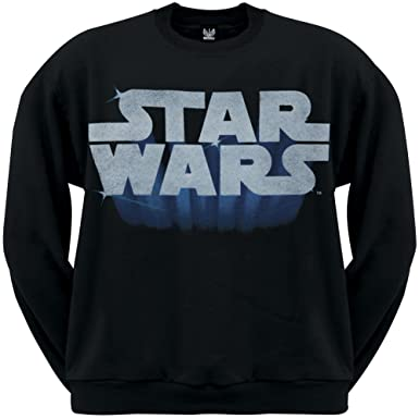Amazon.com: Star Wars - Glowing Logo Crewneck Sweatshirt 2x-Large ...
