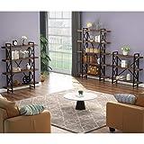 LITTLE TREE 5 Tier Bookcase, Solid Wood 5-Shelf
