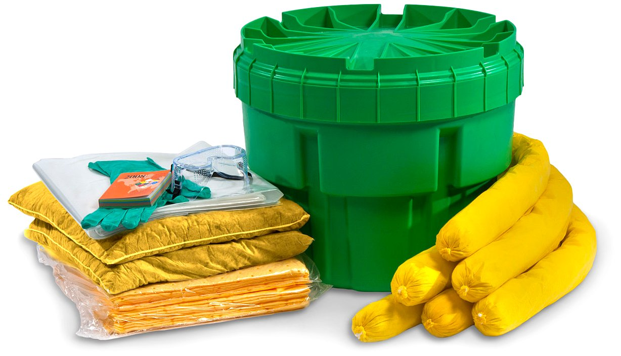 ESP SK-H20 34 Piece 20 Gallons Hazmat Absorbent Ecofriendly Spill Kit, 15 Gallons Absorbency, Yellow