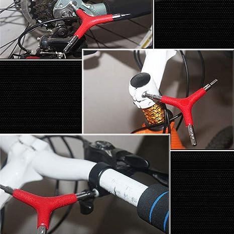 SEGRJ - Llave Allen Hexagonal para Bicicleta (4/5/6 mm), Rojo ...