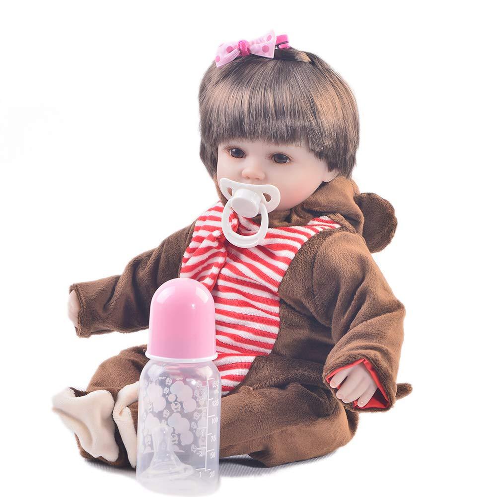 KEIUMI Realistische Reborn Baby-Puppe, Weiches Silikon, für Mädchen, lebensechte Neugeborene, künstliche Puppe, Spielzeug, Kinder, Geburtstag