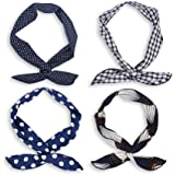 Headband Hair Accessories Hair Band Head Wrap Twisted Boho Style Workout Running Athletic Travel for Woman Girls - 4 Pack
