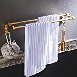 Huihong Twin Bar Towel Rack, Simple Style Bathroom Towel Bar