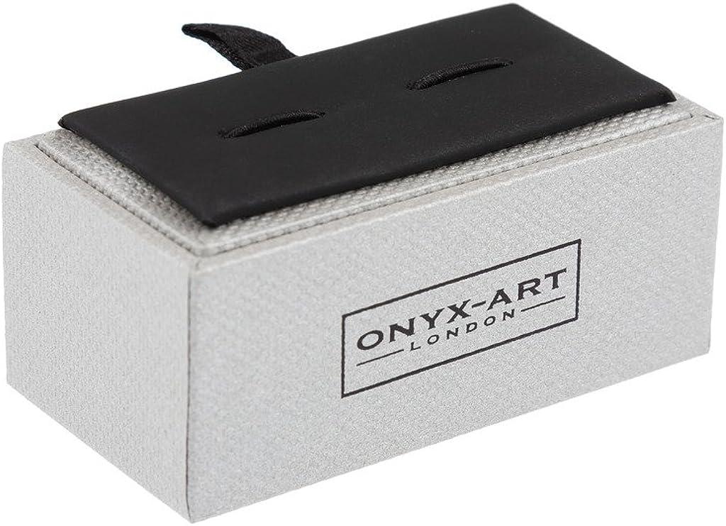 in Onyx-Art Schmuckkasten Design-Manschettenkn/öpfe Motiv Krankenhaus//medizinischer Ambulanzwagen