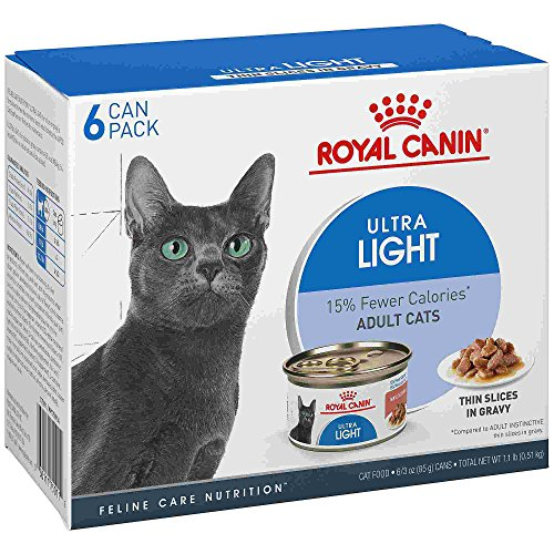 Royal Canin Feline Health Nutrition Ultra Light Thin Slices in Gravy Wet Cat Food, 3 oz, Case of 6 ()
