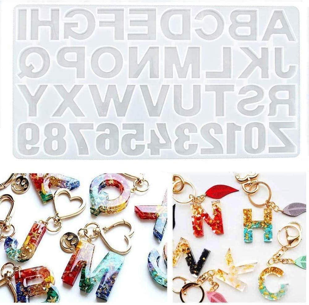 Silicone Mold UV Resin English Alphabet Shape DIY Pendant Molds For Make Jewelry