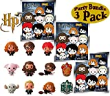 Harry Potter Series 2 3D Foam Figure Collectible Blind Bag Key Rings Gift Set Party Bundle - 3 Pack (Assorted)