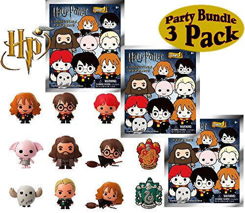 Harry Potter Series 2 3D Foam Figure Collectible Blind Bag Key Rings Gift Set Party Bundle - 3 Pack (Assorted) by Harry Potter
