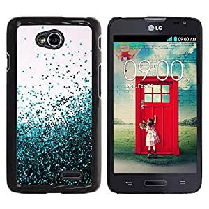 Be Good Phone Accessory // Dura Cáscara cubierta Protectora Caso Carcasa Funda de Protección para LG Optimus L70 / LS620 / D325 / MS323 // Teal Balloons Sky Inspirational