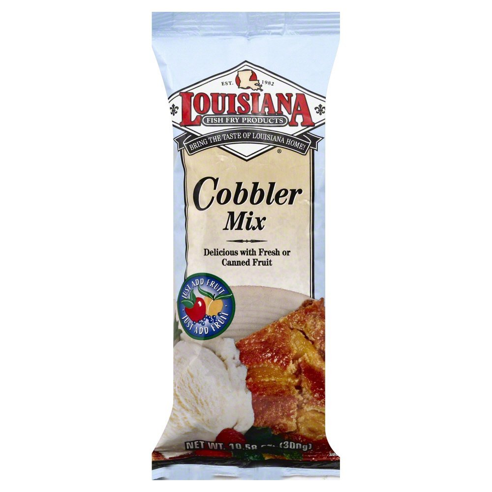 Louisiana Fish Fry Produ counts Cobbler Mix 10.58 oz - Pack of 12