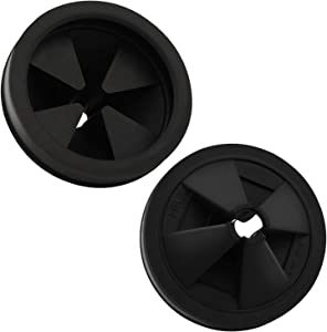 2 PCS Garbage Disposal Splash Guard Collar Sink Baffle, Food Waste Disposer Accessories for Waste King, Whirlaway and GE Models (3 1/8 Inch in Diameter) by CLEESINK