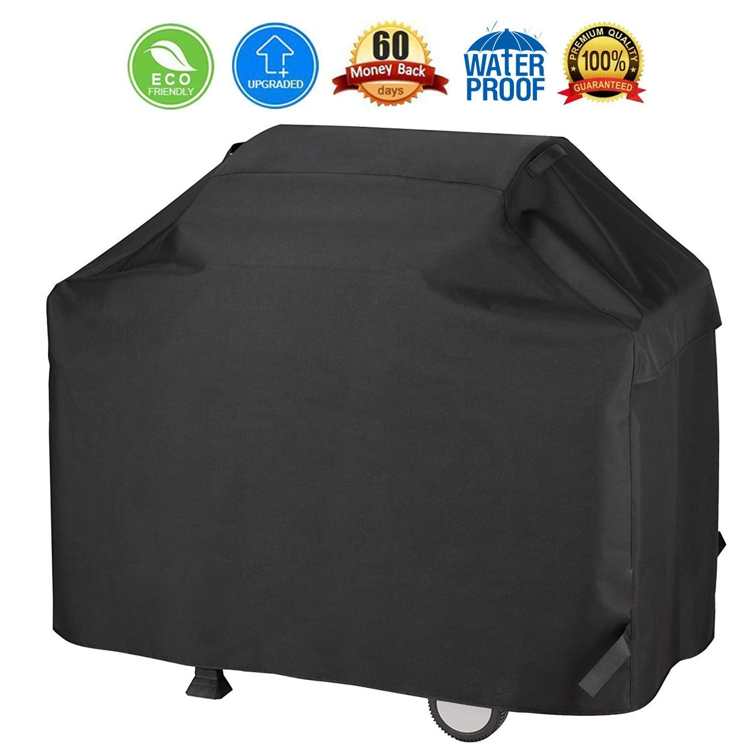BBQ Grill Cover, 600D Waterproof Barbecue Cover Grill Cover 3-4 Burners Gas Grill Cover Barbecue Grill Cover Grill Protection Cover Heavy Duty Waterproof Dust-proof Tear-proof UV-proof(58 Inch/147 cm) Cosyzone