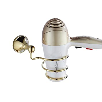 Accesorios para el baño Estilo europeo simple Espiral Tipo muelle Secador de pelo de montaje en ...