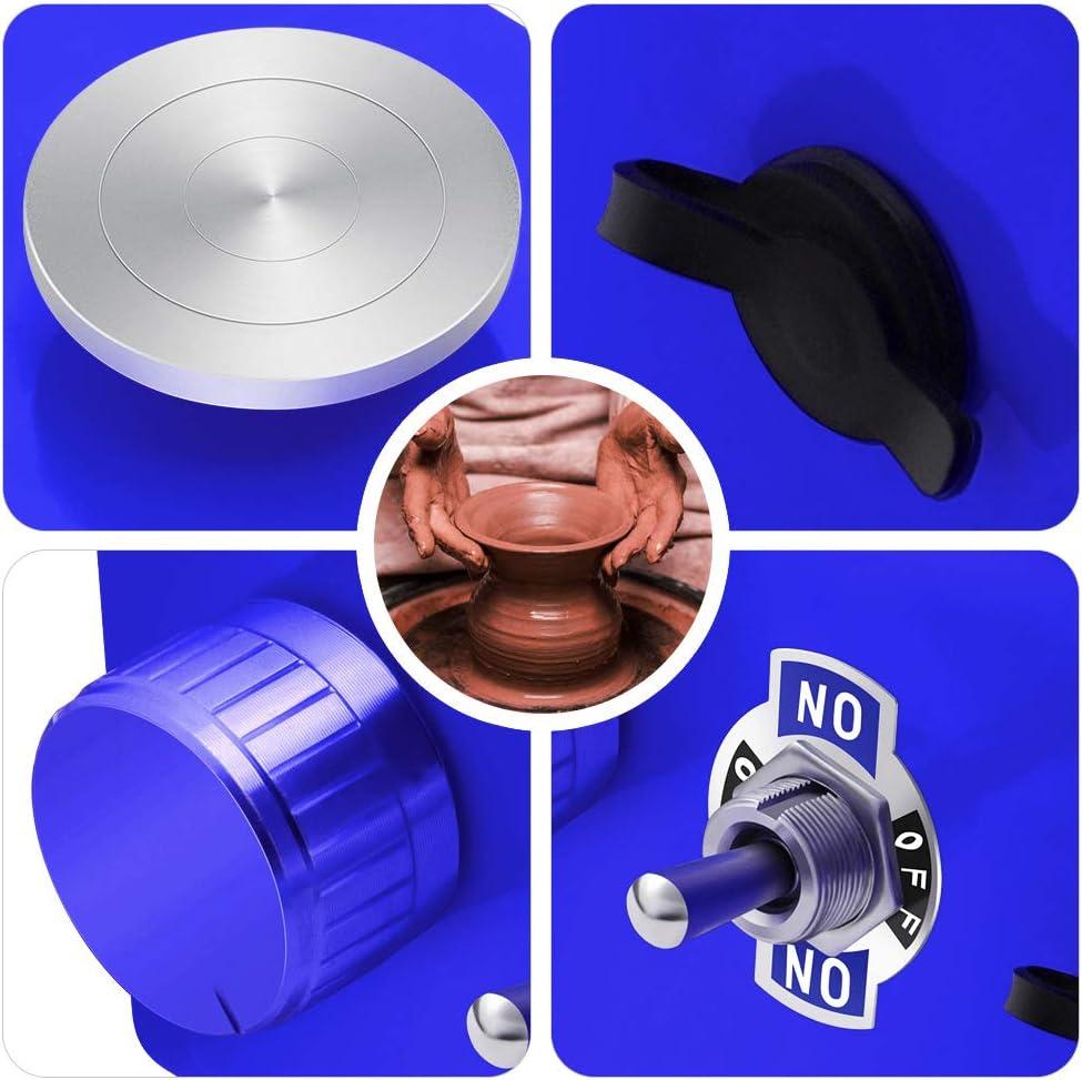 S SMAUTOP Mini Rueda de cer/ámica el/éctrica Herramienta de molde de cer/ámica para ni/ños DIY Mini Pottery Machine Electric para el trabajo de cer/ámica Cer/ámica Clay Art Craft Amarillo