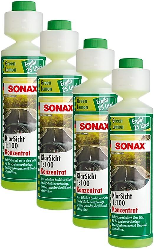 Sonax 4x 03861410 Klarsicht 1 100 Konzentrat Green Lemon 250ml Auto