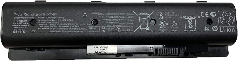 SUNNEAR MC06 MC04 11.1V 62Wh 5585mAh Laptop Battery Replacement for HP Envy 17 15 Envy M7 m7-n109dx m7-n011dx 17-r Series Notebook HSTNN-PB6R HSTNN-PB6L 805095-001 804073-851 TPN-C123