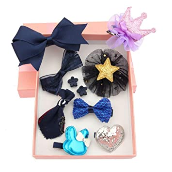 Amazon.com : Girls Bowk-not Hair Clips Set