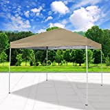 Cloud Mountain Pop Up Canopy Tent 118'' x 118'' UV Coated Outdoor Garden Instant Canopies Tent Easy Set Up With Carry Bag, Sand