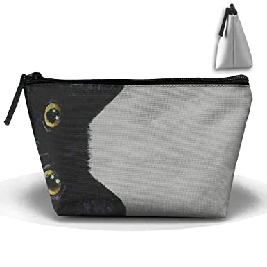 Fashion Cat With Sunglasses Multifunction Portable Pouch Trapezoidal Storage Organizer Bag
