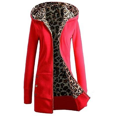 security - Abrigo - para Mujer Rojo Rosso M: Ropa y accesorios