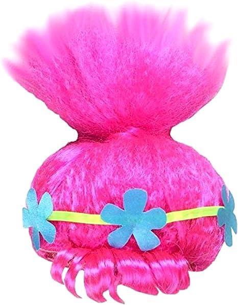 Peluca de trolls - amapola - frisè - niña - accesorios - disfraz ...