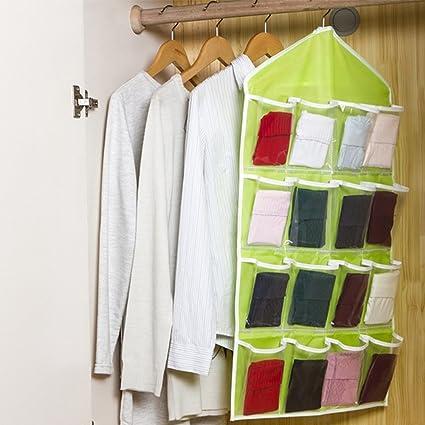 Organizador para colgar puertas, 16 bolsillos, estante para colgar zapatos, bolsa de almacenamiento