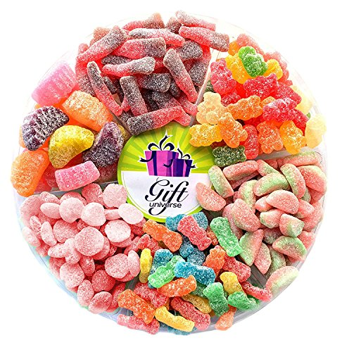Gift Universe Sour Candy Gift Tray with Albanese's, Sour Patch's, E.Frutti's and Sunrise's Best Seller 6 Section Variety Pack of Sour - Sour List Of Candy