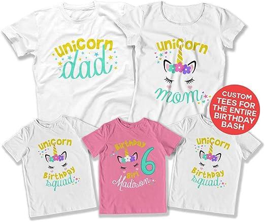 Amazon.com: Camisa de unicornio para niños de 6 cumpleaños ...