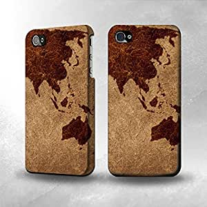 Apple iPhone 4 / 4S Case - The Best 3D Full Wrap iPhone Case - Asia Map