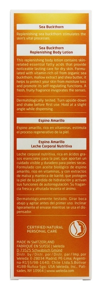 Amazon.com : Weleda - Body Lotion Replenishing Sea Buckthorn - 6.8 oz. : Beauty