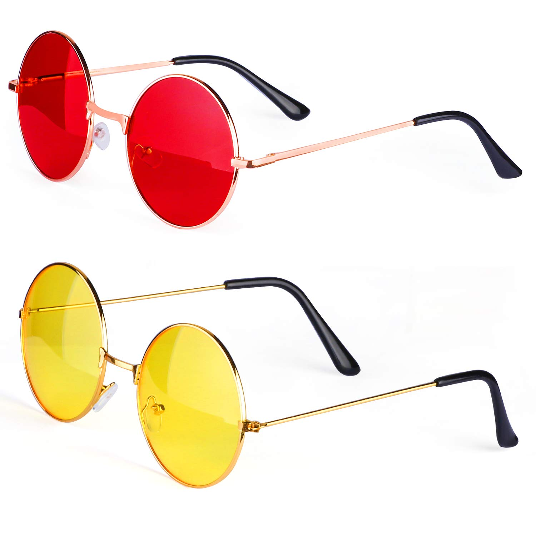 Haichen Gafas de Sol Retro Hippie, Gafas Estilo John Lennon ...