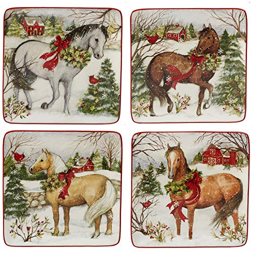 (Certified International 22801SET4 Christmas on The Farm 8.5