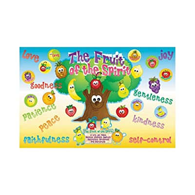Fun Express Bulletin Board Set - Fruit of The Spirit - 30 Pieces - Educational and Learning Activities for Kids: Toys & Games