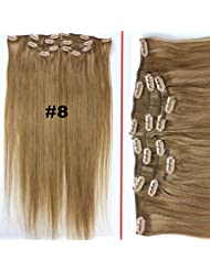 Amazon full set hair extensions extensions wigs dreambeauty brazilian clip in hair extensions dark brown pmusecretfo Image collections