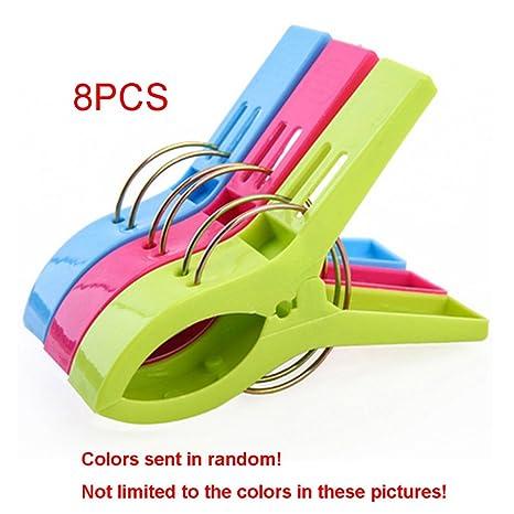 GEZICHTA 8 Pinzas para Toallas, Clip para Ropa, Pinzas de plástico de Color Brillante