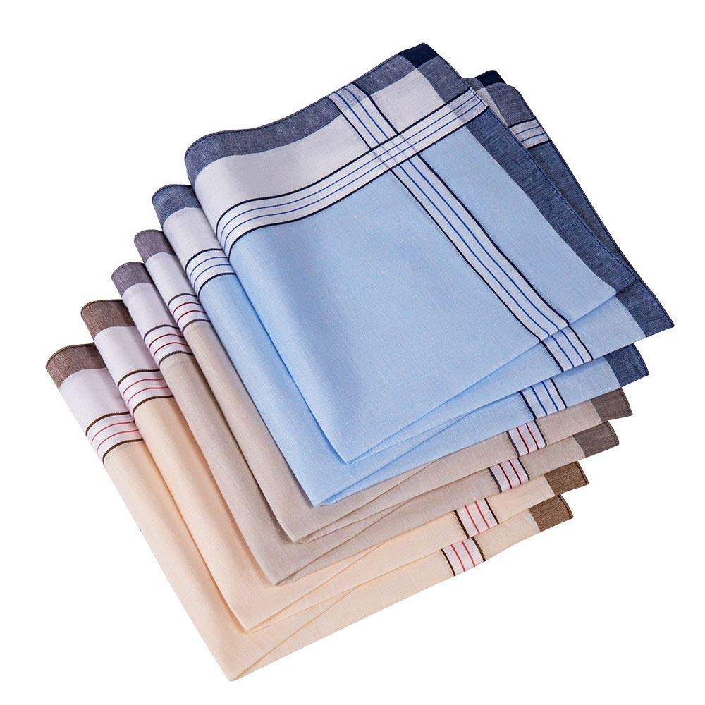 Men's Handkerchief,100% Cotton Classic Hankies (color 1)