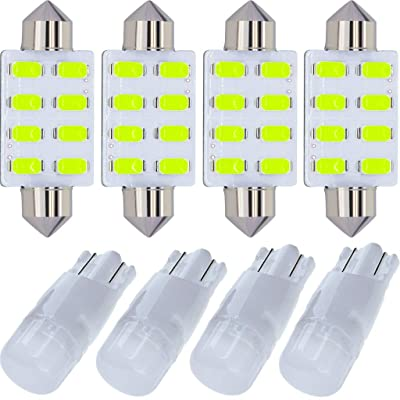 Yoper Ice Blue Interior LED Light Package Kit for Ford F-150 1997-2014 F-250 F-350 F-450 F-550 2000 2001 2002 2003 2004 2005 2006 2007 2008 2009 2010 2011 2012 2013 2014 Replacement Bulbs 12pcs: Automotive