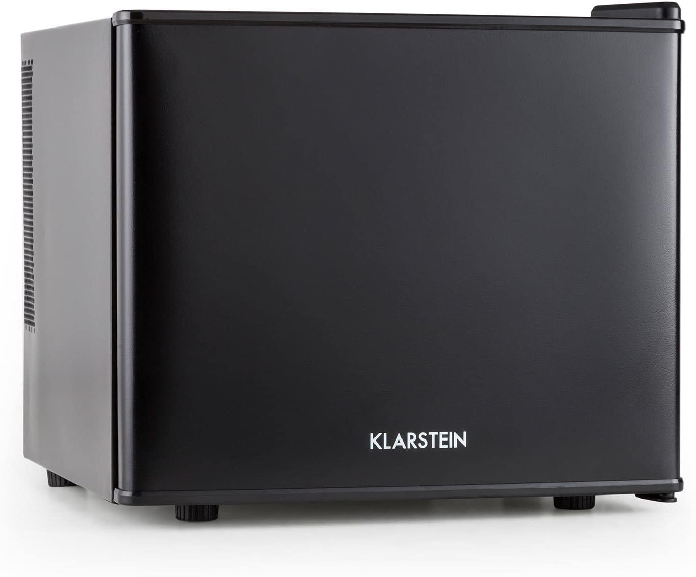 Klarstein Geheimversteck - Minibar, Mini nevera, Nevera para bebidas, Clase A+, 17 Litros, 38,5 x 33,5 x 41,5 cm, Silenciosa, Regulador de temperatura continuo, Ahorro de espacio, Negro