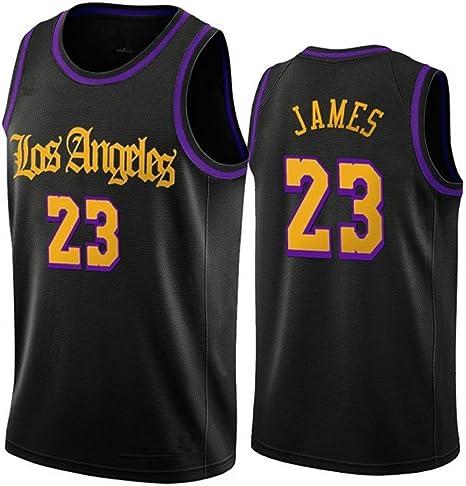 N//G Camiseta Conmemorativa de los campeones de los Lakers 2020 Transpirables Uniformes de Baloncesto de los Lakers Camisetas de Entrenamiento Regalos para fan/áticos Ropa Deportiva y de Ocio